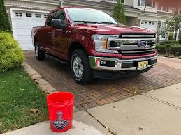 Finally Used My New Truck Washing Bucket Today. Go Caps! : Trucks