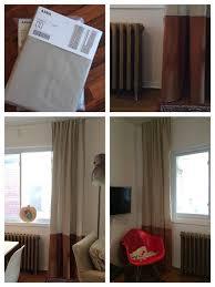 ikea hack ikea aina curtains added bronze fake swede panel to