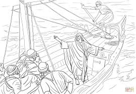 Jesus Stilling The Storm Coloring Page Free Printable Pages