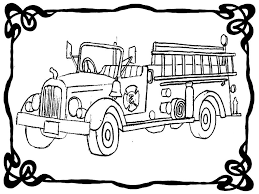Fire Truck Line Drawing At GetDrawings.com | Free For Personal Use ...