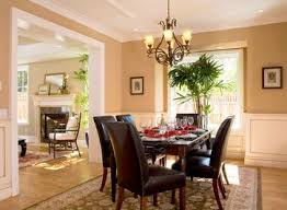 Dining Room With Chair Rail Paint Color Ideas