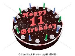 11th Birthday Cake Clipart 1