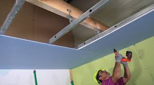 pose de faux plafond pvc isolation idées