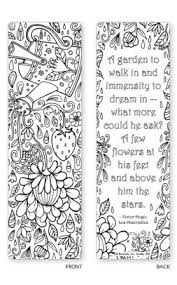 Alternative View 2 Of Spring Garden Coloring Bookmarks