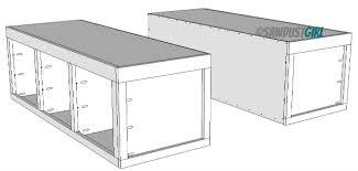 build platform bed platform bed frame plans with drawers step 1