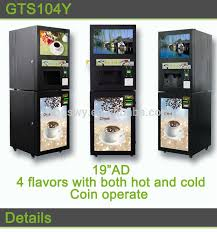 Commercial Coffee Vending Machine 4 Flavors Vendor With Coin And Paper Money Recognizer