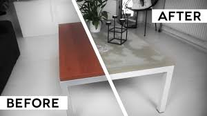 Ikea Desk Top Wood by Diy Minimal Concrete Table Top Ikea Hack Youtube