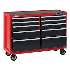 100 Service Truck Tool Drawers CRAFTSMAN 2000 Series 52in W X 375in H 10Drawer Steel Rolling