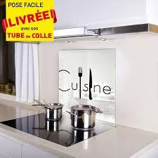 fond de cuisine kozeodeco crédence fond de hotte en verre 600x650mm décor cuisine