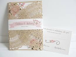Laser Cut Wedding Invitation Doily Invite Bohemian
