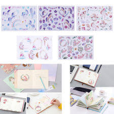 3 5Pcs Hand Painted Animals Cartoon Theme Adhesive Sticker Cute Crafts DIY Decor