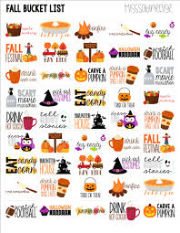 Halloween Candy List by Fall Bucket List Printable Planner Stickers Erin Condren Plum
