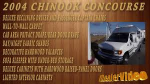 Chinook Concourse Rv Floor Plans by 2004 Chinook Concourse Class B Youtube