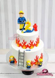 tort strażak sam i minionki desserts birthday cake cake