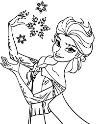 Elsa Snowflake Coloring Page