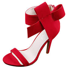 peep toe high heels ankle bow sandals oasap com