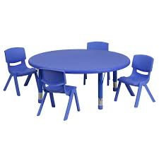 45'' Round Adjustable Blue Plastic Activity Table Set With 4 School ... Flash Fniture 315inch Round Alinum Indoor Outdoor Table With 315 Square Red Metal Inoutdoor Set 4 Stack Chairs Duet Tables Global Group Lifetime 9piece Black Stackable Folding Set80439 The Home Cafe Restaurant Seat Stock Image Of Ding Kitchen Ikea Traing And Mktrcc7224pl44be Foldingchairs4lesscom T42rdb1922slmh2300p03 Bizchaircom Amazoncom Kee 42 Breakroom Mahogany M Rattan 3 Classic Teak Garden Eight Oval Stacks Store