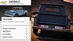 Need For Speed Payback DERELICT GUIDE: 1965 Chevrolet C10 Stepside ... 1987 Chevy 1500 Truck Restoration Update Borla Exhaust Parts Speedway Motors Bolttogether 4754 Frame Rod Authority 1958 Pickup Panel Trucks Chevygmc Trucks 1971 Chevrolet Ac And Heater Classic 1968 C10 Custom Cars Fire Truck Shanes Car 1938 Repairs Of Metal Work 1957 Alternator Cversion Best Resource 1961 Maintenancerestoration Oldvintage Vehicles Body Bench Seat Need For Speed Payback Derelict Guide 1965 Stepside