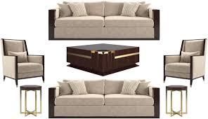 casa padrino luxus deco wohnzimmer set beige dunkelbraun hochglanz gold 2 sofas 2 sessel 1 couchtisch 2 beistelltische edle