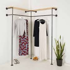 garderobe kleiderstange ecklösung duo high corner