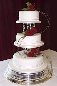 cakes by Cakes Galore Lily Wedding Cake with fresh roses