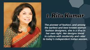 Top 10 Most Famous Indian Women Fashion Designers 2017