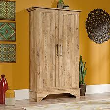 South Shore Morgan Storage Cabinet Pure Black by Sauder Cannery Bridge Milled Cherry Storage Cabinet 419151 The