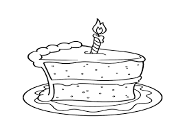 Coloring Trend Medium Size Piece Cake Slice Birthday Coloring Pages Cookie