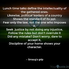 Lunch Time Talks Define Intellectuality Gathered Ones Shows