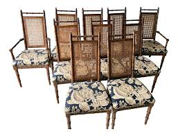 100 1960 Vintage Metal Outdoor Chairs S Cane Back Faux Bamboo Dining Set Of 10 Chairish