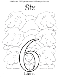 Number 6 Coloring Page PDF
