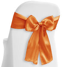 10 Elegant Satin Wedding/Party Chair Cover Sashes/Bows - Ribbon Tie Back  Sash - Orange - Lann's Linens Satin Banquet Chair Cover Red Covers Wedding Whosale Outdoor Ivory For Weddings Only 199 Details About 100 Universal Satin Self Tie Any Kind Of Chair Cover Decorations Good Looking Rosette Cap Hood Used For Spandex Free Shipping Pin On Our Tablecloths Bunting Hire Vintage Lamour Turquoise Cheap Seat Us 4980 200 Tie Round Top Cover Banquet Free Shipping To Russiain From Home Garden Brocade Ivory