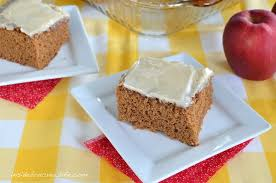 Apple Butter Cake a delicious spice cake made with apple butter and topped with a
