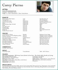 Actors Resume And Best 25 Acting Template Ideas On Pinterest