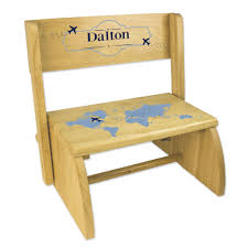 Personalized World Map Blue Natural Wooden Folding Stool And Seat  Children's Bench Seat STOO-nat-255 Indoor Chairs Folding Step Stool Chair Wooden Senarai Harga Hgf Ss 001ao Vtg Antique Wood Library And 50 Similar Items Diy Diy Cpbndkellarteam Cosco Rockford Series 2step Mahogany Ladder 225 Lb Load Capacity Type Ii Duty Rating Tideng Solid Wood 2 Household White Stair Thing Home Design Ideas Xtend Climb Ultra Light Weight Alinum With Handle