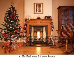 weihnachten wohnzimmer stock bild k12941340 fotosearch