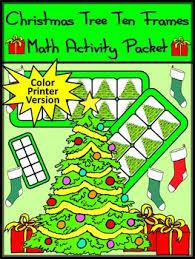 Christmas Game Activities Tree Ten Frames Math Activity