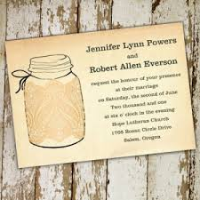 Printable Lace Mason Jars Fall Wedding Invitations EWI243