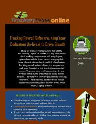 Trucking Payroll Software: Keep Your Dedication Un-break To Drive ... Trucking Company Claims To Reduce Driver Turnover 16 Online Ownoperator Software Rigbooks Sample Profit And Loss Statement For Trucking Company Boat Invoice Template Owner Operator Truck Unusual How To Write Businessn For Startup Writing Trucker Bookkeeping Cadian Truckers Dispatch Tms Custom Load Tracking Web Application Development Belitsoft Research What Cteria Execs Use Select Software Carrier