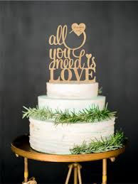 All You Need Is Love Rustic Cake Topper Wood Custom Woodland Wedding Personalized