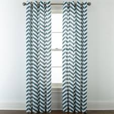 Grommet Top Curtains Jcpenney by Jcpenney Home Cotton Classics Broken Chevron Grommet Top Curtain