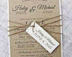 Etsy Rustic Wedding Invitations For Design Examples Herrlich Very Amazing 19
