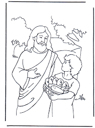 5 Bread And 2 Fish 4 Bible Coloring PagesColoring
