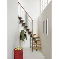 escalier 2 quart tournant leroy merlin escalier modulaire strong marches bois structure métal gris