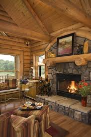 40 Rustic Country Cabin With A Stone Fireplace For Romantic Get Away 31