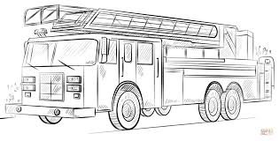 Click The Fire Truck With Ladder Coloring Pages To View Printable