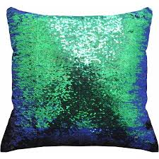 mainstays reversible sequin decorative throw pillow 17 x17 teal