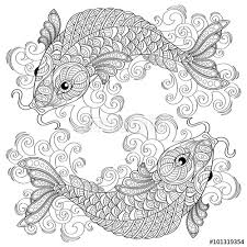 Adult Antistress Coloring Page Black And