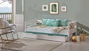 einzelbett gästebett solandri kiefer massiv vollholz weiß lackiert liegefläche 90 x 195 cm b x l