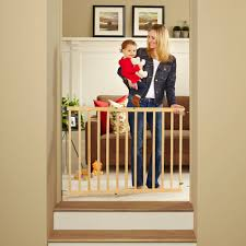 North States Tall Natural Wood Stairway Swing Baby Gate, 28